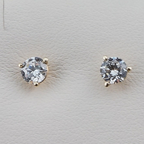 14K Yellow Gold 1.00CT TWT Diamond Hybrid 5.00MM Earrings