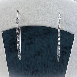 Sterling Silver and Diamond Jullian Earrings .49CT TWT