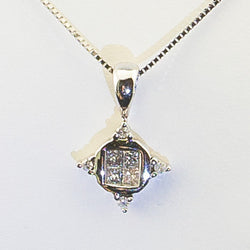 .25CTS White Gold Diamond Pendant