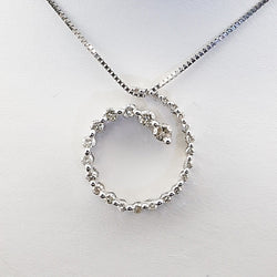 14K White Gold .18CT Diamond Pendant