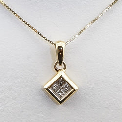 .15CTS Yellow Gold Diamond Pendant