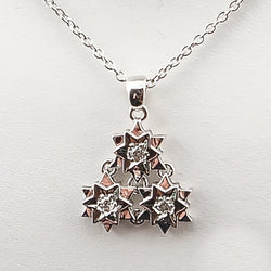 18K White Gold Diamond Snow Flake Pendant