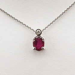 14KW .01CT Diamond .52 Ruby Pendant