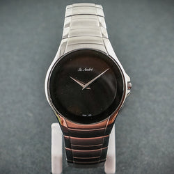 5ATM Mens Stainless Steel Round Black Face St.Andre Watch