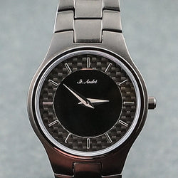 3ATM Ladies Black Plating Carbon Dial Round St.Andre Watch