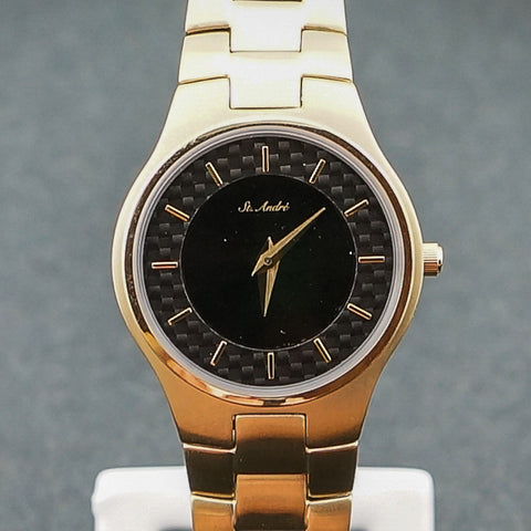 St.Andre Ladies Watch 3ATM Gold Plated Stainless/Steel