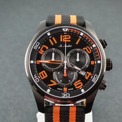 St.Andre Gents Watch 10ATM Chrono Black & Orange