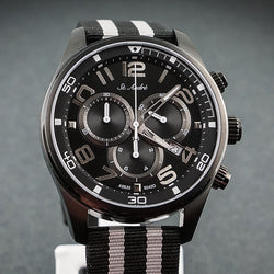 St.Andre Gents Watch 10ATM Chrono Black & Silver