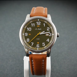 St.Andre Gents Watch 10ATM ST/Steel Brown & Green