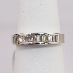 14K White Gold .50CT Diamond Anniversery Band