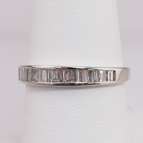 14K White Gold .40CT Diamond Baggett Anniversery Band