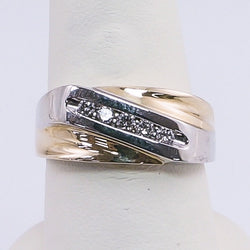14K Yellow Gold .25CTW Diamond Mens Ring