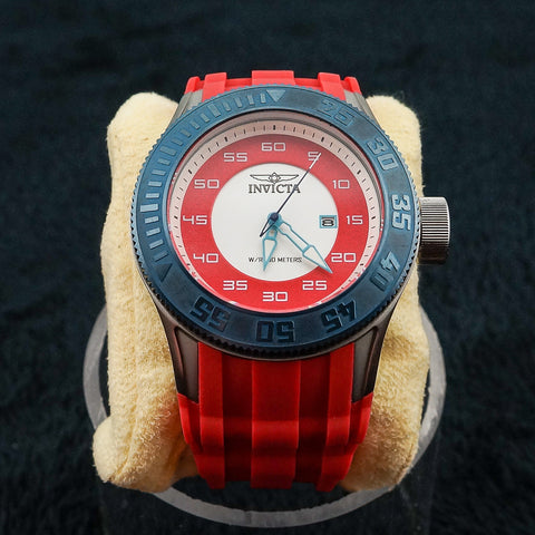 Invicta Stainless Steel Red Band Gents Watch