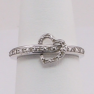 Silver and Diamonds Ladies Ring