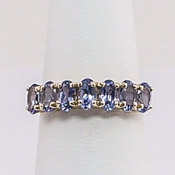 10K Yellow Gold Tanzanite Ladies Ring