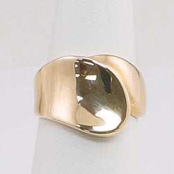 14K Yellow Gold Ladies Fashion Ring Polish