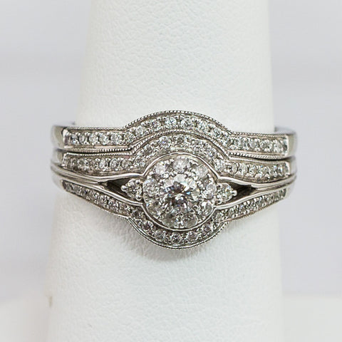 14K White Gold .65CT Diamond Ladies Ring