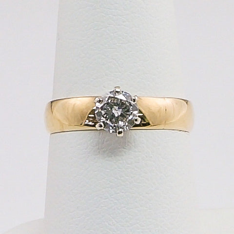 14K Yellow Gold .50PT Diamond Engagement Ring