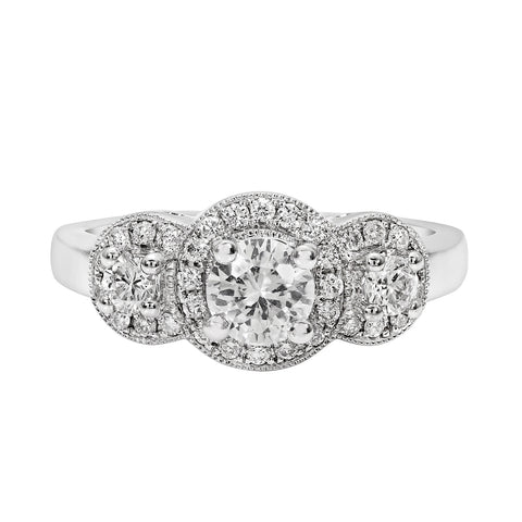 14K White Gold Engagement Ring TWT 0.45 CT.