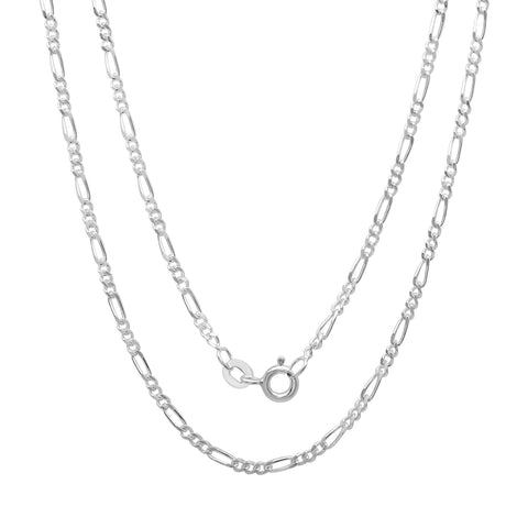 Sterling Silver Figaro Chain 2.00 MM