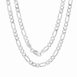 Sterling Silver 100 Figaro Chain 4.00 MM