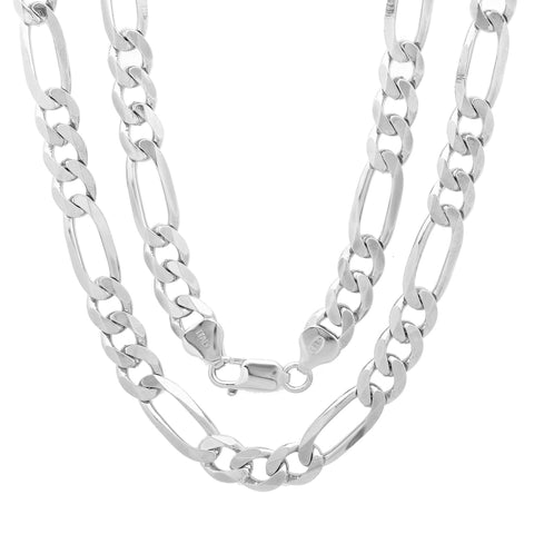 Sterling Silver DC Figaro Chain 7.50mm
