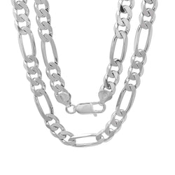 Sterling Silver Figaro Chain 8.00MM
