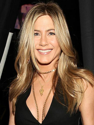 Jessica Aniston wearing Layered Necklaces