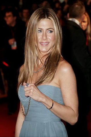Jennifer Aniston wearing Cartier Love Bracelet
