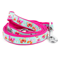 PINK BUTTERFLIES DOG LEASH