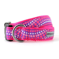 PURPLE AND PINK TIDALWAVE DOG COLLAR