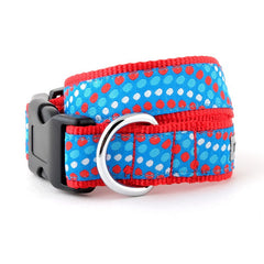 RED AND BLUE UNISEX DOG COLLAR