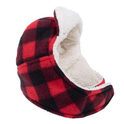 RED AVIATOR HAT BUFFALO FLEECE - doggyDAWGworld.com