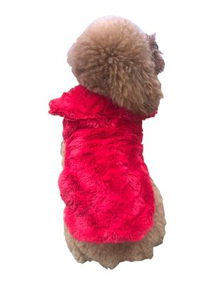 RED BELLA LUXURY FUR COAT - doggyDAWGworld.com