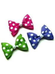 GREEN POLKA DOT BOW/BARRETTE