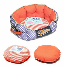 Load image into Gallery viewer, LAVENDER POLKA DOT TOUCHDOG BED - doggyDAWGworld.com