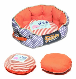 LAVENDER POLKA DOT TOUCHDOG BED - doggyDAWGworld.com