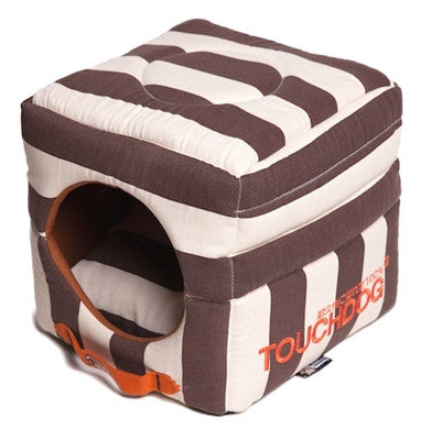 COCOA STRIPED TOUCHDOG BED (Convertible&Reversible) - doggyDAWGworld.com
