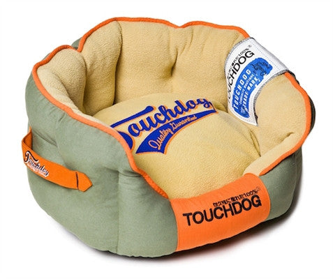 GREY TOUCHDOG BED - doggyDAWGworld.com