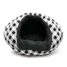 Load image into Gallery viewer, BURGER BED - Checkers Black - doggyDAWGworld.com
