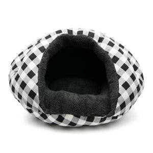 BURGER BED - Checkers Black - doggyDAWGworld.com