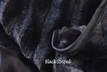 LUXURY STRIPED BLANKETS (BLACK)