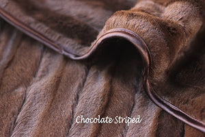 LUXURY STRIPED BLANKETS (CHOCOLATE)