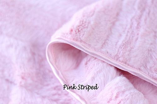 LUXURY STRIPED BLANKETS (PINK)