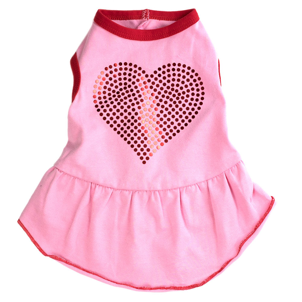 BLING HEART DRESS - doggyDAWGworld.com