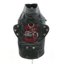 Load image into Gallery viewer, BIKER DAWG MOTORCYCLE JACKET (BLACK) XS-3XLARGE - doggyDAWGworld.com