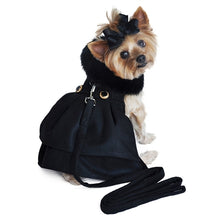 Load image into Gallery viewer, BLACK W/BLACK FUR CLASSIC WOOL COAT - doggyDAWGworld.com