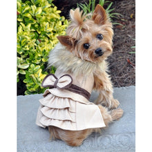 Load image into Gallery viewer, CLASSIC CREAM WOOL COAT HARNESS W/FUR COLLAR - doggyDAWGworld.com
