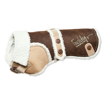 TOUCHDOG ORIGINAL SHERPA-BARK DESIGNER FASHION FORWARD (BROWN)