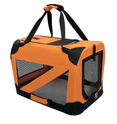 TRAVEL PET CRATE (ORANGE) - doggyDAWGworld.com